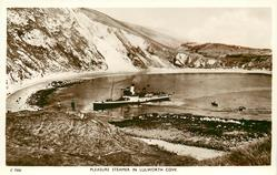PLEASURE STEAMER IN LULWORTH COVE
