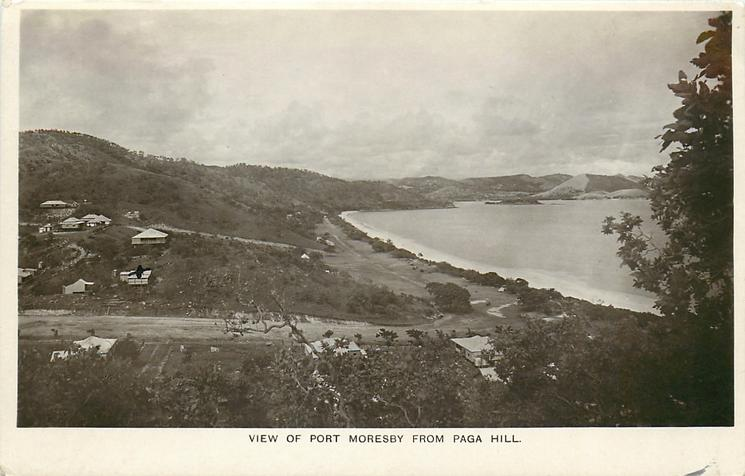 VIEW OF PORT MORESBY FROM PAGA HILL sea right