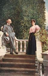 MR & MRS HALL CAINE AT GREEBA CASTLE. I.O.M.