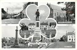 5 insets  MILL STREET/ANDREWS MEMORIAL HALL/COMBER & DISTRICT WAR MEMORIAL/THE SQUARE/BRIDGE STREET