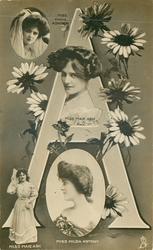 A, MISS MARIE ASHTON, MISS MAIE ASH (2), MISS HILDA ANTONY