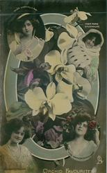 O, ORCHID FAVOURITES, Gabrielle Ray, Miss Marie Studholme,  Gertie Millar, Gaynor Rowlands
