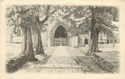 THE ENTRANCE, CHRISTCHURCH PRIORY