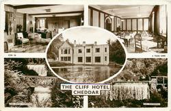 5 insets THE LOUNGE/THE RESTAURANT/THE CLIFF HOTEL/THE HOTEL GARDENS/THE WATERFALL