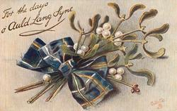 mistletoe blue/yellow tartan bow