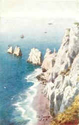 THE NEEDLES (view from above cliffs)