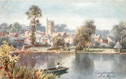CARISBROOKE (general view from across the water)