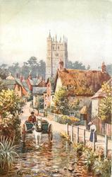 CARISBROOKE (horse and cart enter ford)