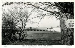 VIEW OF MAIN BUILDING, GRANGE FARM  signpost right