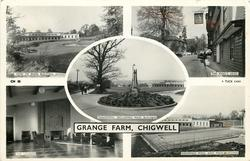 5 insets GRANGE FARM VIEW OF MAIN BUILDING/ THE KING'S HEAD/PANORAMA INCLUDING MAIN BUILDING/THE LOUNGE/SWIMMING POOL AND MAIN BUILDING