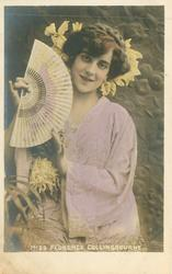 MISS FLORENCE COLLINGBOURNE in kimono