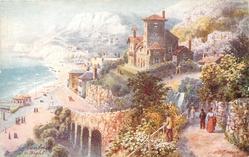 VENTNOR (cliff top view, sea to left)