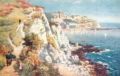 VENTNOR (cliff top view, sea to right)