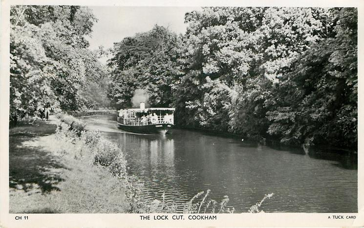 THE LOCK CUT boat on river