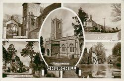 5 insets CHURCHILL COURT/THE TURNPYKE HOUSE/THE PARISH CHURCH/THE CLOCK TOWER OLD VILLAGE/RICKFORD GLEN, BLAGDON