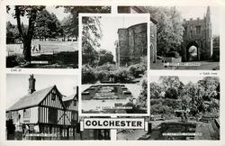 5 insets CASTLE PARK/ST. JOHN'S ABBEY GATEWAY/THE CASTLE AND LILY POND/THE OLD SEIGE HOUSE/THE LILY POND, CASTLE PARK