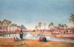 ARAB VILLAGE NEAR THE PYRAMIDS