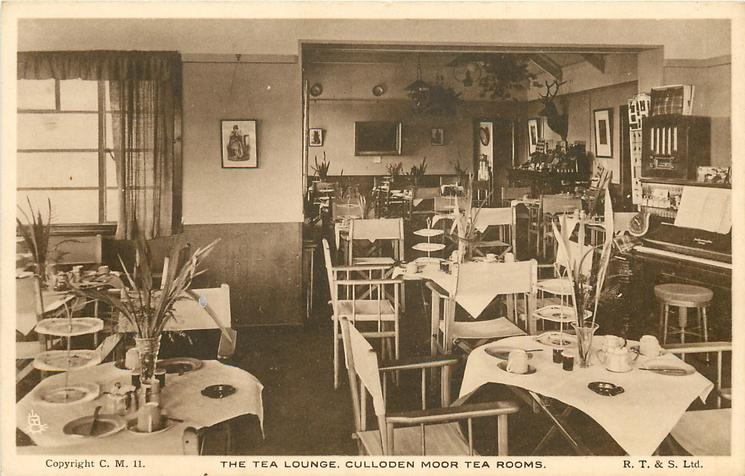THE TEA LOUNGE.  CULLODEN MOOR TEA ROOMS