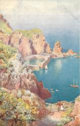 SARK. - THE CREUX HARBOUR