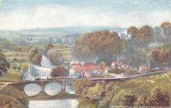 LUDLOW CASTLE AND BRIDGE FROM WHITCLIFFE