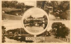 5 insets THE RIVER/BOATHOUSE & RIVER BURE/COLTISHALL BRIDGE/THE RIVER/VILLAGE FROM BRIDGE