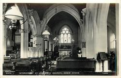 INTERIOR OF ST. ANDREW'S CHURCH