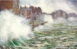 ROUGH SEA AT RAMSEY