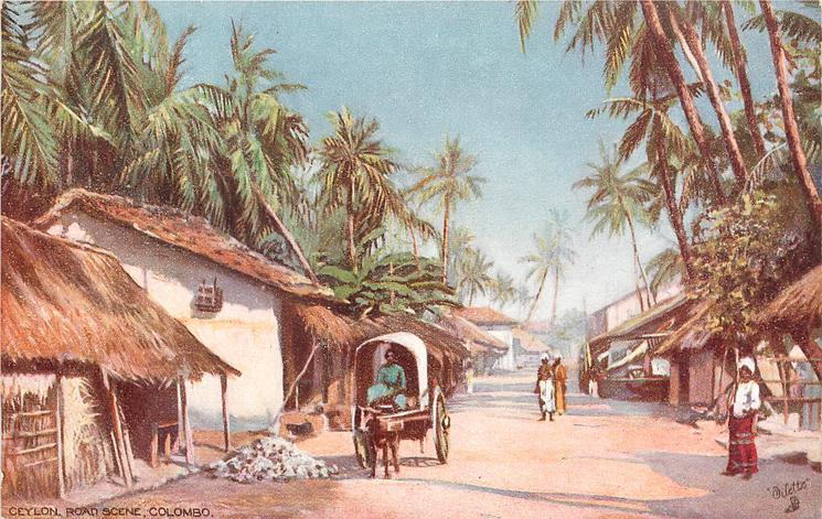 CEYLON, ROAD SCENE, COLOMBO