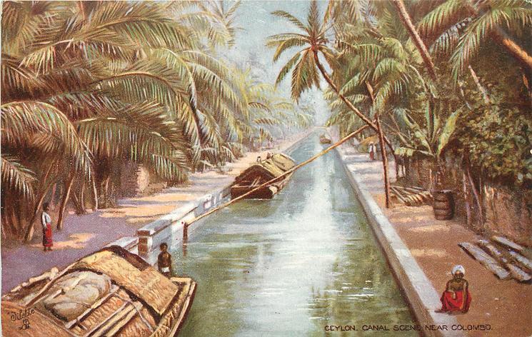 CEYLON, CANAL SCENE NEAR COLOMBO