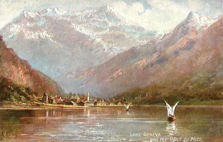 LAKE GENEVA AND THE DENT DU MIDI