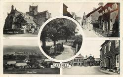 5 insets CARTMEL PRIORY/PRIEST LANE/ENTRANCE TO PARK/GENERAL VIEW/THE SQUARE