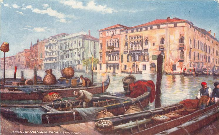 front GRAND CANAL FROM FISH MARKET  back CANAL GRANDE VOM FISCHMARKT