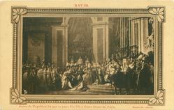 SACRE DE NAPOLEON IER LE PAPE PIE VII A NOTRE-DAME DE PARIS