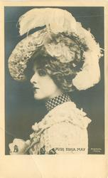 MISS EDNA MAY  head & shoulders, facing left