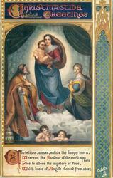 CHRISTMAS GREETINGS Holy Family