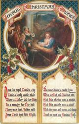JOYFUL CHRISTMAS WISHES  ONCE IN ROYAL DAVID'S CITY STOOD A LOWLY CATTLE SHED/SAVIOUR HOLY