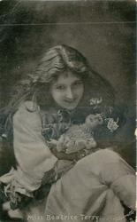 MISS BEATRICE TERRY  with large doll