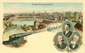 KRUPP'S GUSSSTAHLFABRIK, 3 vignettes