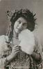 MISS MAUDE FEALY  head & shoulders, head tilted looking up to left