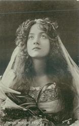 MISS MAUDE FEALY  head & shoulders, facing front, looking up