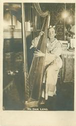 MR. DAN LENO  with harp
