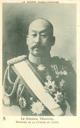 LE GENERAL TERAUCHI, MINISTRE DE LA GUERRE AU JAPON