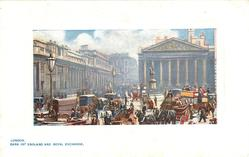 BANK OF ENGLAND AND ROYAL EXCHANGE