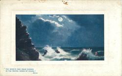 THE MOON'S FAIR IMAGE QUAKE IN THE RAGING WAVES OF OCEAN