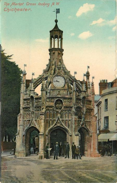 THE MARKET CROSS LOOKING N.W.