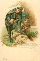 HAMLET (ACT V) LE CRANE QUE DU PIED//DIPLOMATIQUE