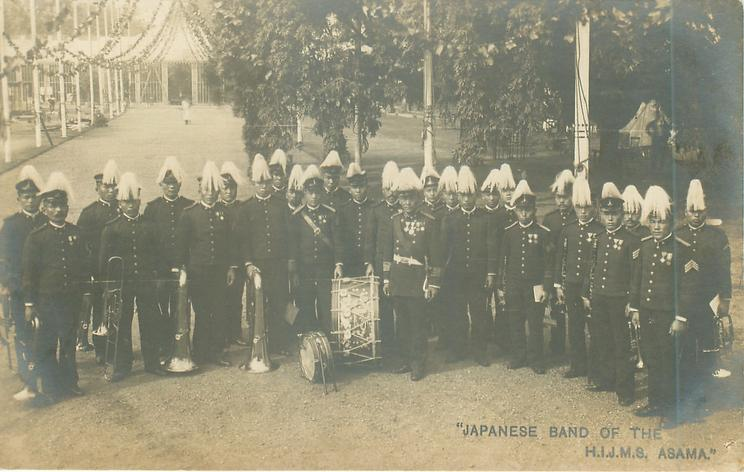 """JAPANESE BAND OF THE H.I.J.M.S. ASAMA."""