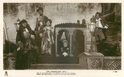 ACT I. DUKE OF PLAZA-TORO (MR. C.H. WORKMAN),  LUIZ (MR. ALEC JOHNSTONE), CASILDA (MISS MARIE WILSON),  DUCHESS OF PLAZA-TORO (MISS LOUIE RENE)