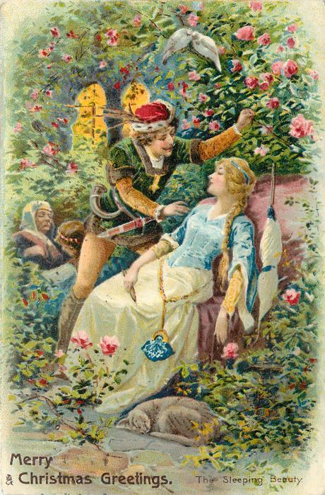 MERRY CHRISTMAS GREETINGS  THE SLEEPING BEAUTY