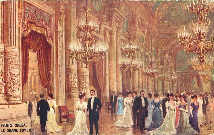 Le Grand Foyer Medicis : Le grand foyer tuckdb postcards